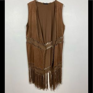 Voice of California boho hippie fringe vest